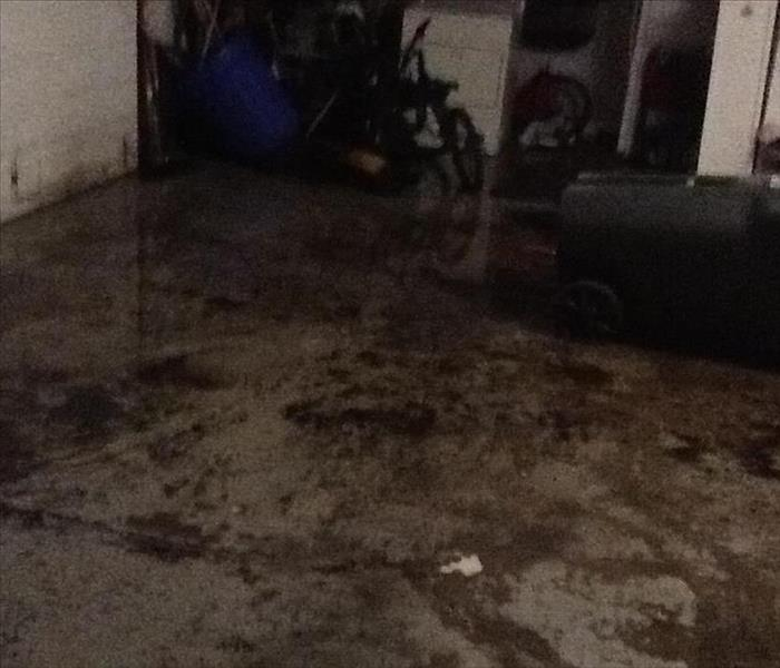Garage during a storm Before
